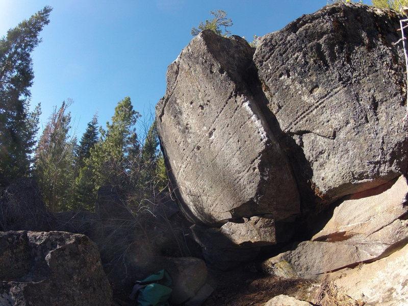 Rock Climbing Photo: Rimrete, V5 start sitting left hand on the blocky ...