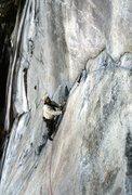 Rock Climbing Photo: Doc Bayne on one of many FA in SC. 1989