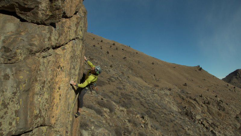 Rock Climbing Photo: A video grab of the send.