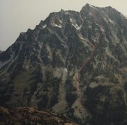 Rock Climbing Photo: Another view of approach to South headwall in red ...