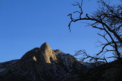 Rock Climbing Photo: Sunset on Sugarloaf from the campground