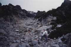 Rock Climbing Photo: In the gully/couloir during approach to South Head...