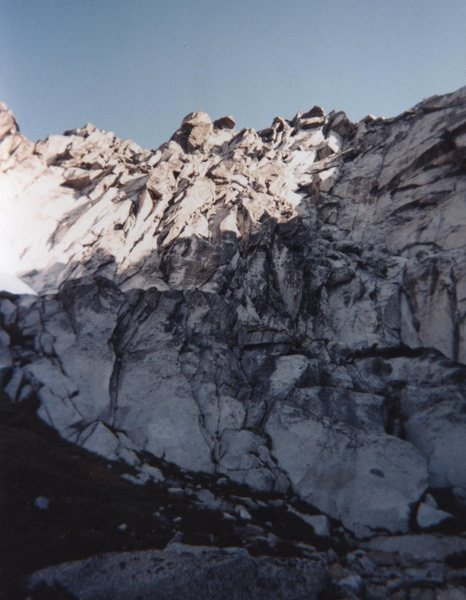 South Headwall, taken from the base of the wall.