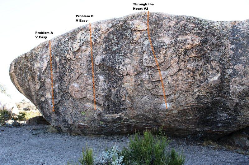 Sacrificial Boulder North Face - Left Topo