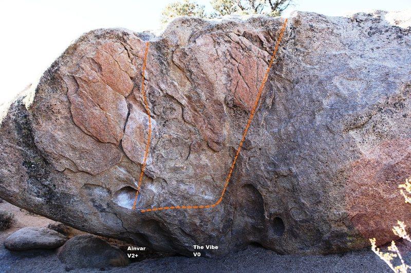 Rock Climbing Photo: Goblin Rock - Left Topo