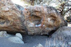 Rock Climbing Photo: Goblin Rock - Right Topo