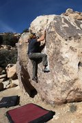 Rock Climbing Photo: One more move to the top