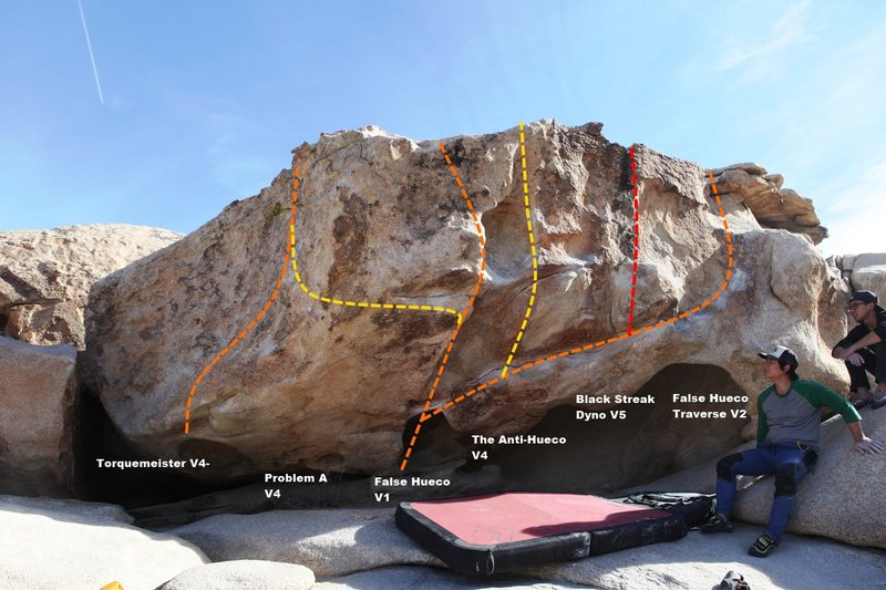 False Hueco Boulder Topo