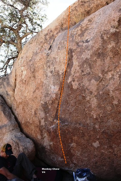 Rock Climbing Photo: Monkey Chow Topo