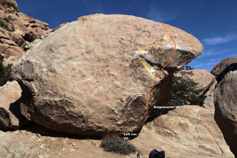 Rock Climbing Photo: Bulgemaster Topo