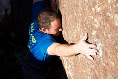 "Rock Climbing Photo: Believing is seeing. ""There are holds, there ..."