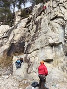 Rock Climbing Photo: Emil leading Flight Time