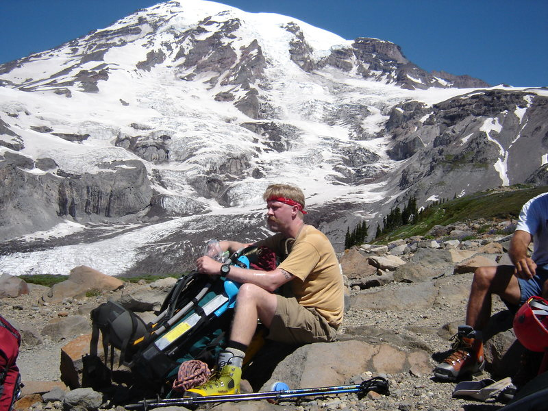Rock Climbing Photo: Well earned break at Pebble Creek