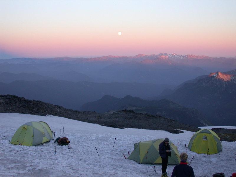 Rock Climbing Photo: Sunset at camp 1