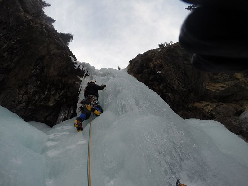Top pitch on the climb.  Great vertical section!