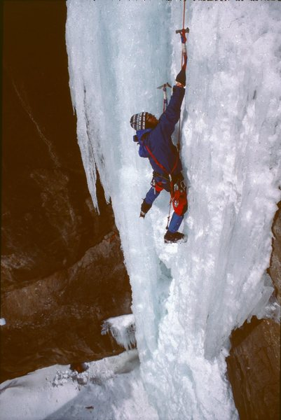 Rock Climbing Photo: John Marrs getting it done in the '80s! Straight s...