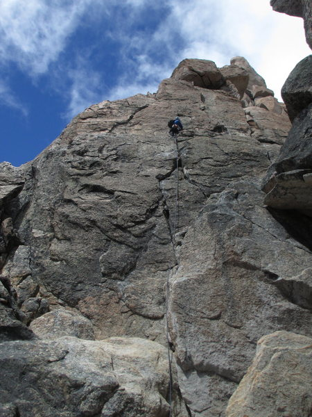 Rock Climbing Photo: Bill Bjornstad on the 1st pitch of the Normal Rout...