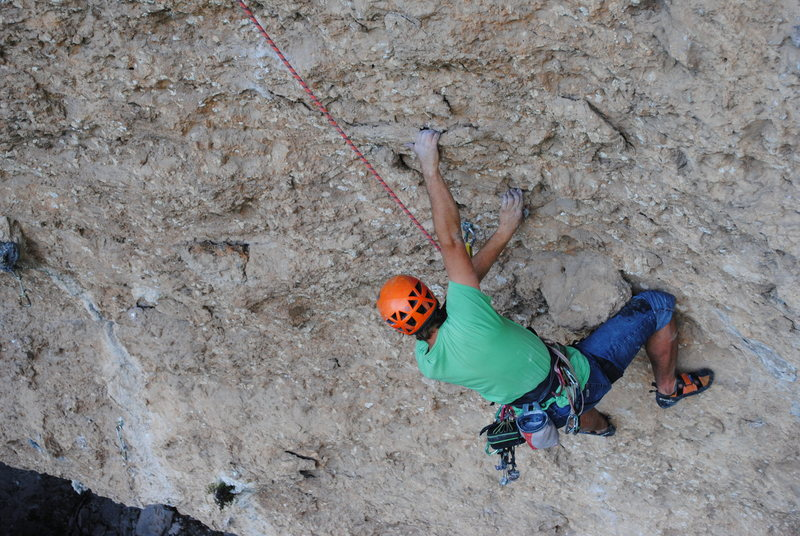 Rock Climbing Photo: the technical middle section