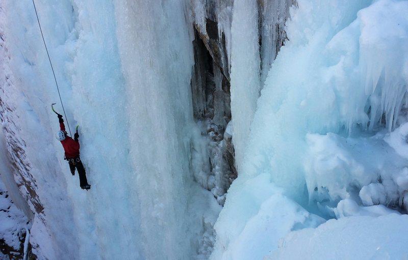 Rock Climbing Photo: Climber on Duncan's Delight.