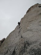 Rock Climbing Photo: Bill Bjornstad leading the left (5.7) variation of...