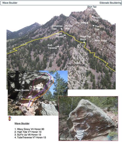 Rock Climbing Photo: Wave Boulder.