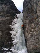 Rock Climbing Photo: 2nd pitch of Chockstone Gulley, Skylight Area, Our...