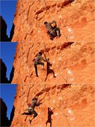 Rock Climbing Photo: A failed attempt! We used a stick clip and an alpi...