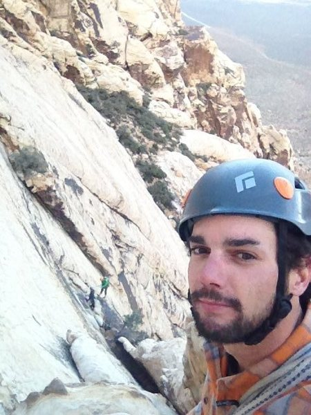 Rock Climbing Photo: Repelling off solar slab