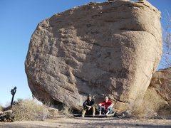 Rock Climbing Photo: Celebrating with Darin.