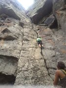 Rock Climbing Photo: Top Roping a 5.9 in the Confederate Cracks. Super ...