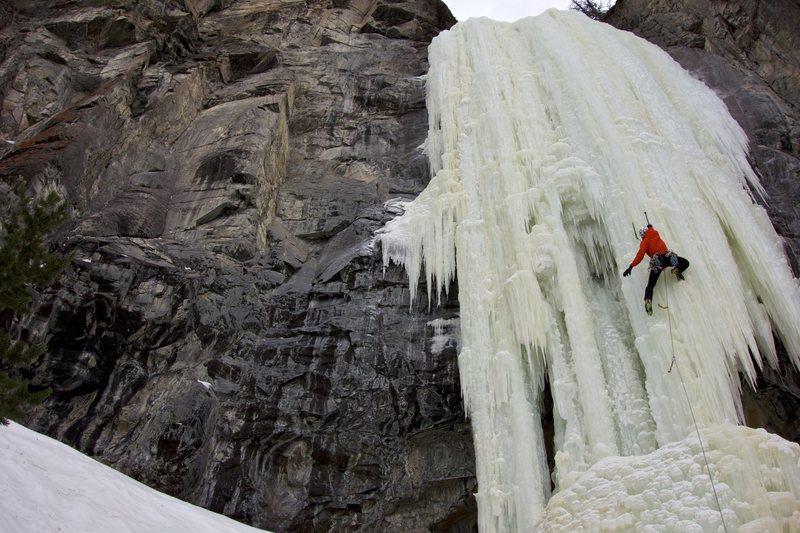 Rock Climbing Photo: Leading the Joy