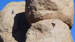 "Rock Climbing Photo: Climbers on ""Texas Chainsaw Massacre"" (r..."