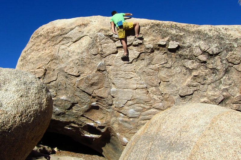 Rock Climbing Photo: Topping out The Greatest Imperfection.
