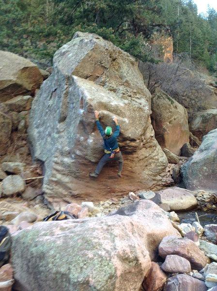 Rock Climbing Photo: Pressure Drop on the Accordion Boulder, Creekside ...