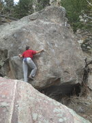 Rock Climbing Photo: Lunatic Fringe on the Fringe Boulder, West World b...