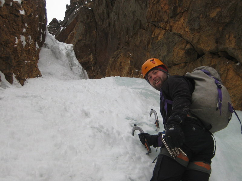 Rock Climbing Photo: in the actual ice section