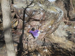 Rock Climbing Photo: Clairvoyant on the Mile Stone, Whale's Tail west.