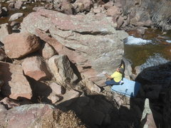 Rock Climbing Photo: Mohawk Wind on Punk Rock, Milton Boulder area.
