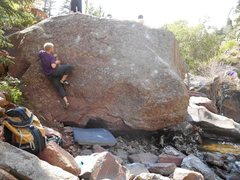 Rock Climbing Photo: Splash on the Splish Boulder.