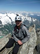 Rock Climbing Photo: Sitting on the summit of Forbidden Peak!