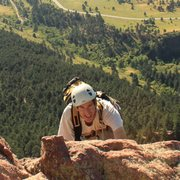 Rock Climbing Photo: Randy at the 3rd Flatiron - 2012