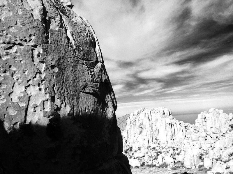 Rock Climbing Photo: Patina wall b/w 2