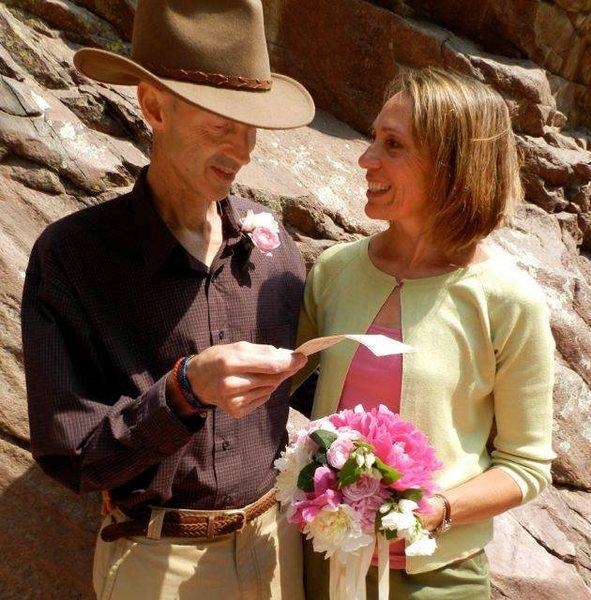 Rock Climbing Photo: Randy & Belen at Eldo renewing our wedding vows - ...