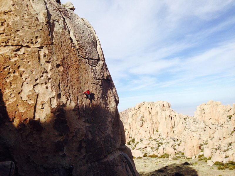 Rock Climbing Photo: Climber on Borderline (5.10a/b)