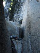 Rock Climbing Photo: Second Crux-  pitch 6 : credit:Salamanizer