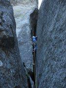 Rock Climbing Photo: Last 5.8 pitch: credit:Salamanizer