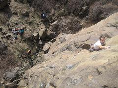 Rock Climbing Photo: Joe Chorny and Hardy Fulgham are not weak!