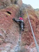 Rock Climbing Photo: Dave on the start.