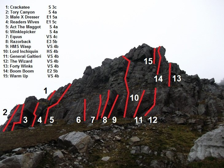 Rock Climbing Photo: Muckish mountain Climbing, Donegal