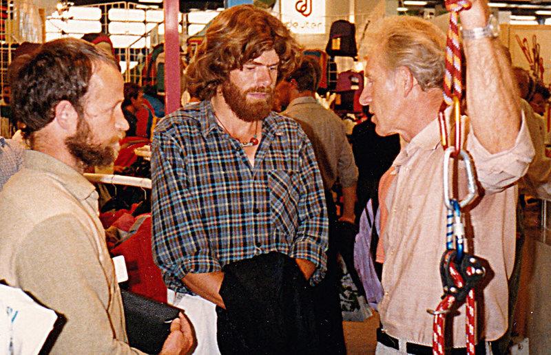 Heli Magdefrau, Reinhold Messner and Helmut Antz